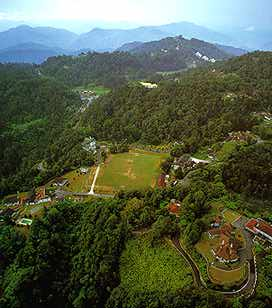 Aerial view of Fraser's Hill